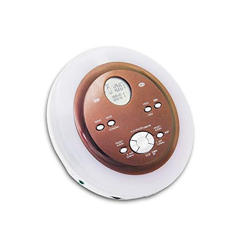 LIGHTOP CD Player Tragbarer Personal Compact Disc Player Compact Walkman Mit Kopfhörern Und Netzteil Elektronischer Skip Protection Anti Shock Funktion für CD, MP3 CD, CD-R, CD-RW