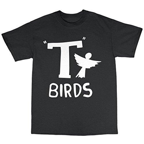 T-Birds T-Shirt Baumwolle Schwarz