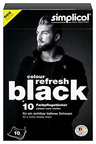 Simplicol Colour Refresh Farbpflegetücher, Schwarz, 10 Stück: Zur Auffrischung ausgeblichener Kleidung für sichtbar tieferes Schwarz