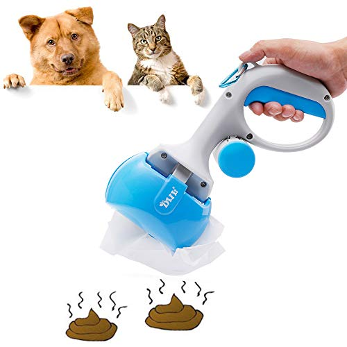 Tie langxian - Cuchara portátil para Perros pequeños con dispensador de Bolsas de residuos, recogedor de residuos para Perros y Gatos, fácil de Limpiar