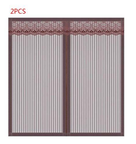 JLDN 2PCS Window Screen Mesh Curtain, magnetisch Heavy Duty Mesh Automatisches Schließen Strapazierfähig für Fenster und Türen,Brown_100x150CM