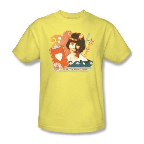 cbs-love-boat-here-to-serve-erwachsene-t-shirt-in-bananen-x-large-banana