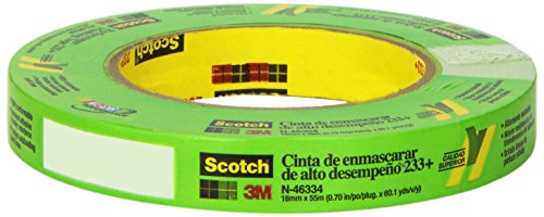 Scotch 46334 233+ 18 mm x 55 m Performance Masking Tape by Scotch