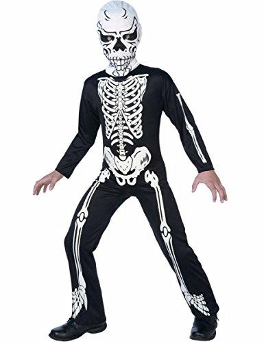 Skelett Jumpsuit Kinder Kostüm Halloween Karneval Fasching - Kostüme Skelette