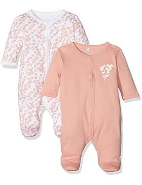 NAME IT Baby-Mädchen Schlafstrampler Nbfnightsuit 2P W/F - 2er Pack