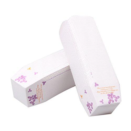Preisvergleich Produktbild Gazechimp 100 Stück Muffin Backformen - aus stabilem Papier, Muffinförmchen / Cupcake Backformen / Muffindeko 25,5 cm × 5,5 cm × 3.7CM - Lila