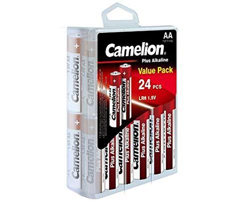 Camelion 11112406 Plus Alkaline Batterien Blister Box LR6 Mignon, 24er-Pack Alkaline-batterie-box