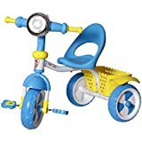 Dash Kids Tricycle With Storage Basket, Lights And Music. Blue