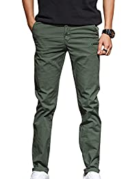 Straight Fit Series Hombre Casuales Chinos Pantalones Recto Slim Fit