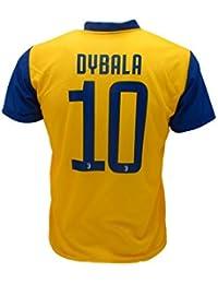 Camiseta Jersey Futbol Segundo Amarillo Juventus Dybala 10 Replica Autorizado 2017-2018 Niños Adultos (Talla Large)