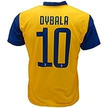 Camiseta Jersey Futbol Segundo Amarillo Juventus Dybala 10 Replica Autorizado 2017-2018 Niños Adultos (Talla Medium)