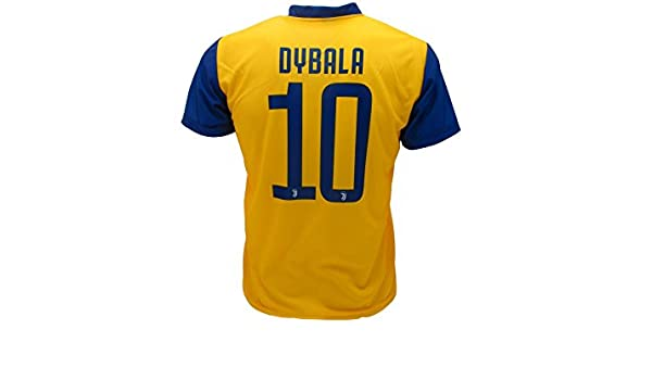 621aadb44 T-Shirt Jersey Yellow Away Futbol Juventus Paulo Dybala 10 Replica  Authorized 2017-2018 Adult Child  Amazon.co.uk  Sports   Outdoors