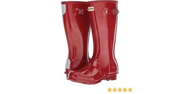 Hunter Original Neonato Military Rosso Gloss stivali di