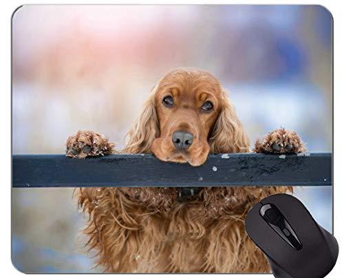 Mousemat-Mauspads, Cocker Spaniel Hund Spaniel - Genähte Kanten