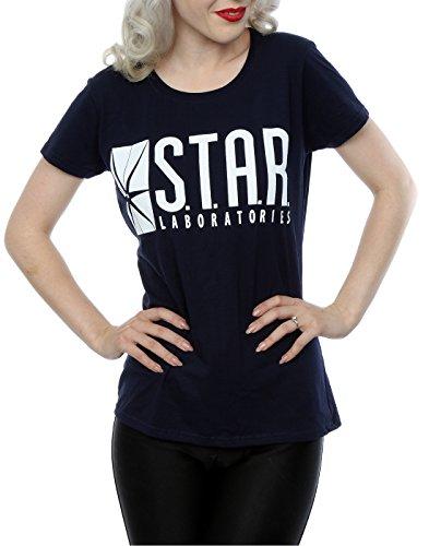 DC Comics Damen The Flash STAR Labs T-Shirt Deep Navy