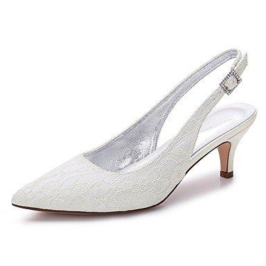 Wuyulunbi@ Scarpe donna raso Pizzo Primavera Estate Comfort scarpe matrimonio Punta frizzante di strass Hollow-Out Glitter per la festa di nozze & US9 / EU40 / UK7 / CN41
