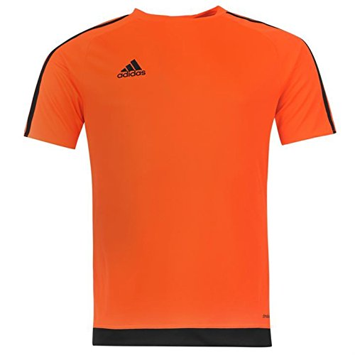 Adidas Mens 3 Stripe Estro T Shirt Short Sleeved Tee Top Climalite Solar Orange Xxl
