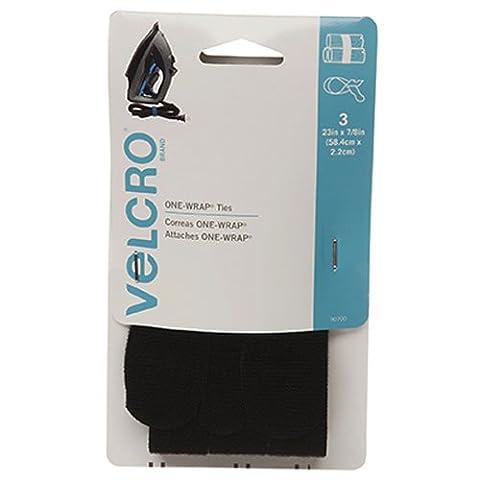 Velcro Marque–One-wrap pour câbles, fils et cordons, noir, 3 Count - 23