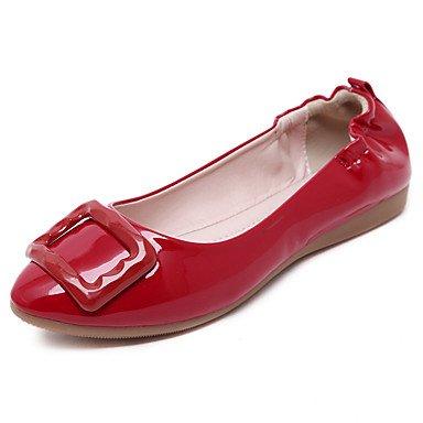 Confortevole ed elegante piatto scarpe donna Appartamenti Primavera / Estate / Autunno Comfort / Punta / punta chiusa / Appartamenti Casual tacco piatto nero / rosso / Mandorla Red