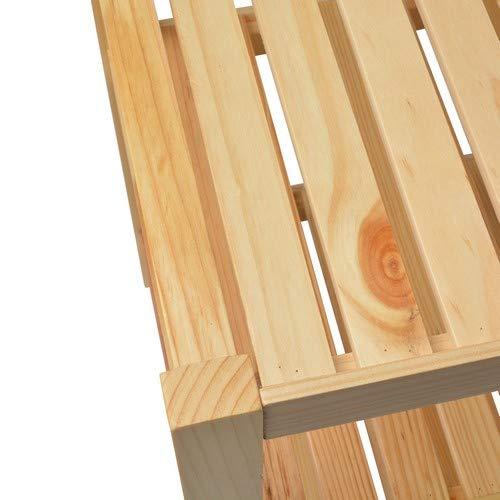 Waschtischunterschrank, Holz, Braun – 40x65x55cm - 5