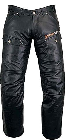 « Fuente Delux » pantalon en cuir de motard moto