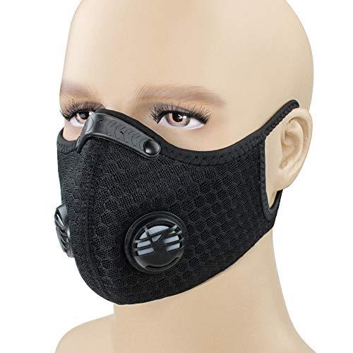 Atemschutzmaske Staubmaske Atemmaske Staubschutzmaske Schutzmaske Atemmaske Gasmaske PM2.5 für Radsport,Motorradfahren,Draussen.