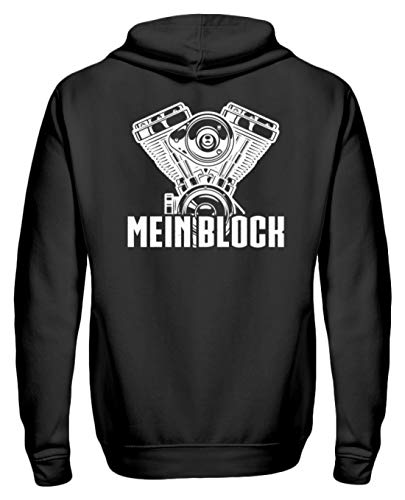 Chorchester Ideal für Mechaniker und Motor Fans - Zip-Hoodie -S-Schwarz