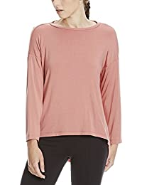 Bench Matrial Patch Top, T-Shirt Manches Longues Femme, Beige