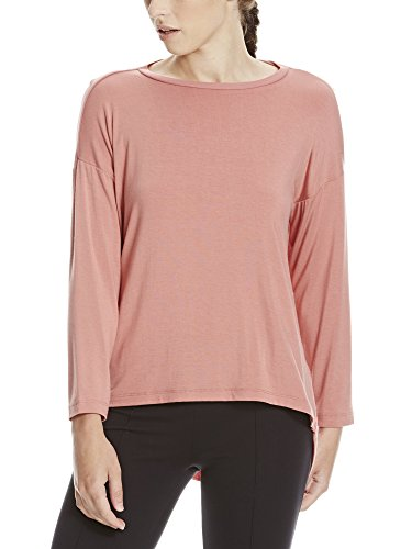 Bench Damen Langarmshirt MATRIAL Patch TOP, Rosa (Canyon Rose PK171), 36 (Herstellergröße: S)