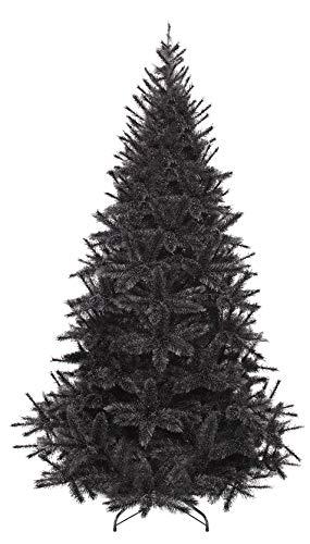Albero Natale artificiale nero - Modello Bristlecone -1,55 m Design frosted ghiaccio