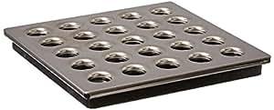 Ebbe Bonde de douche carré Nickel satiné grate-e4410