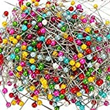 Trendz Handpicked 18/10 Steel Multicolour Pearl Head Pins for Tailor, Dressmaking, Patchwork, Wedding, Florist and Decorating - Pack of 120