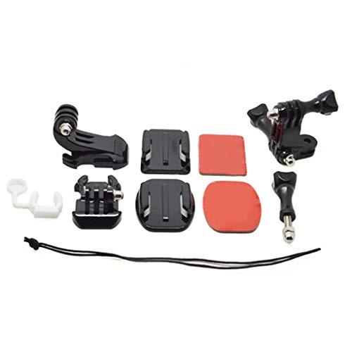 Preisvergleich Produktbild Bomcomi Front-Side-Helm-Zubehör Set J-förmige Buckle Base Support Montag Ersatz für GoPro Hero3 + / 3 / 2 / 1 Action Kamera