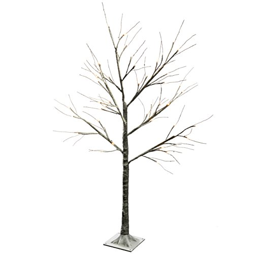 werchristmas-pre-lit-led-tree-with-snow-christmas-decoration-4-ft-12-m-brown-warm-white