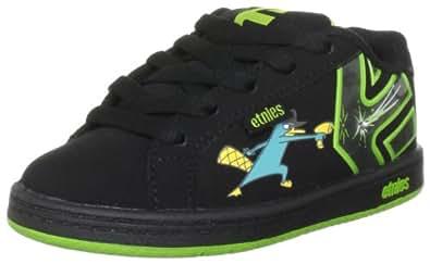 Etnies Disney Kids Fader Black/Green Fashion Sports Skate Shoe 4301000109 13 UK Junior