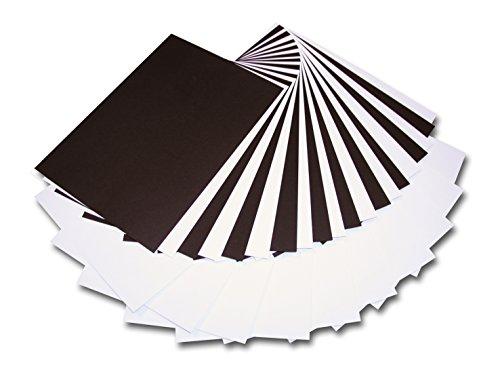 CI Karte Combo Pack, A4, 12Schwarz und Weiß, Holz, Mehrfarbig, 20Blatt, 20x 30x 2cm - Karte Combo