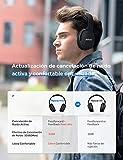 Mpow H10 Auriculares Inalánbricos Diadema, Cascos con Cancelación de Ruido, 40 Hrs de Juego, Auriculares Plegable Manos Libre para TV/PC/Tableta-Violeta