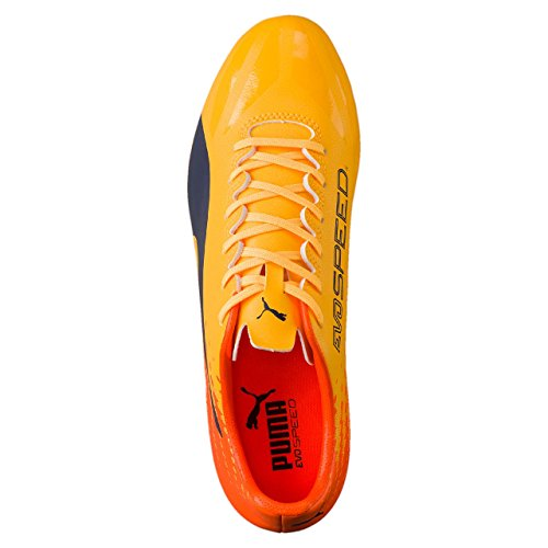 Puma Evospeed 17.4 Ag, Scarpe da Calcio Uomo giallo-arancio (Ultra yellow-Peacoat-Orange clown fish)