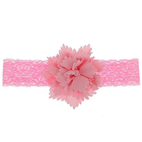 Little Sporter Blumen Haar Spitze Stirnbänder Baby Haarband mischen Farbe elastisch Blumen Muster Stirnband Perfekt für Neugeborene Rosa