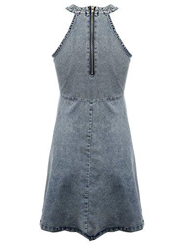 Azbro -  Vestito  - linea ad a - Maniche lunghe  - Donna Blu