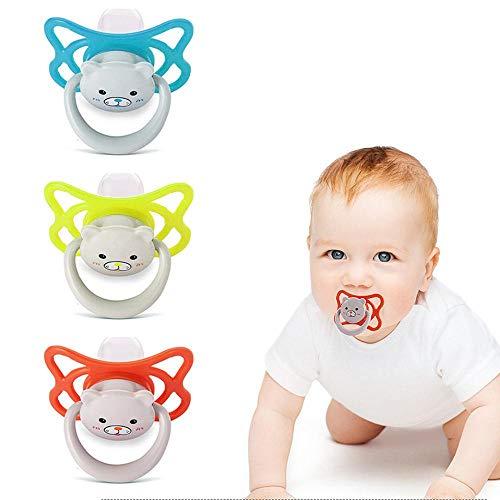 schnuller kirschform, lesgos 3pcs Silikon Schnuller BPA freie Silikon-Beruhigungssauger mit stilvollen Mustern für Babys von 0-36 Monaten