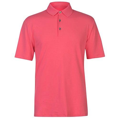 Ashworth Herren Matt Golf Polo Shirt Kurzarm Pink X L (Golf-t-shirts Ashworth Herren)