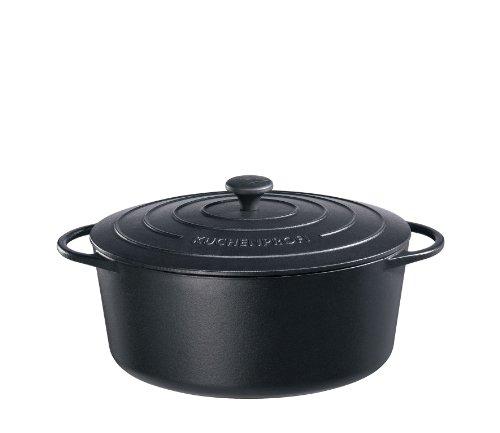 Küchenprofi 0402001033 Bratentopf oval, Provence, Gusseisen, schwarz, 18 x 31,8 x 38,8 cm