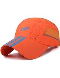 Crystallly Gorros Unisex Sport De De Secado Gorra Camionero Rápido Malla  Estilo Simple Transpirable Sombrero para El Sol Protección De… 31225348d05