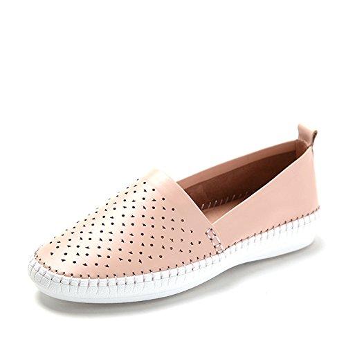Primavera scarpe openwork di aria/Mette piede scarpe/Comfort piatto scarpe da donna Rosa