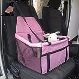 Jamisonme Reinforce Pet Reinforce Booster Autositz für Hund Katze tragbare atmungsaktive Tasche Harness Cover Haustier Reisen Carrier Paket mit Clip-On Sicherheitsleine und Reißverschluss-Aufbewahrungstasche (pink)