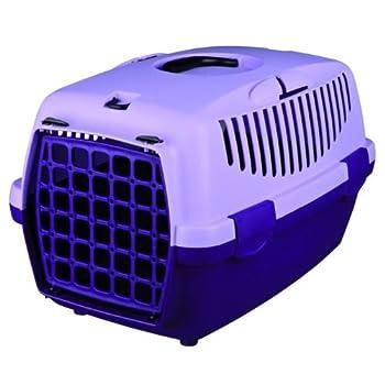 Boîte de transport Capri, 1: 32 × 31 × 48 cm, gris/lilas pour petits chiens/lapins