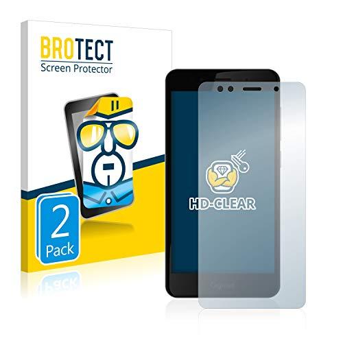 BROTECT Schutzfolie kompatibel mit Gigaset GS180 [2er Pack] klare Bildschirmschutz-Folie