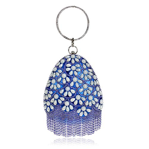 fad1c1375 ELEGENCE-Z Clutches Bolsa De Embrague Bag Bolso Perla Bolso Bandolera Mujer  Banquete Plata Bolsas