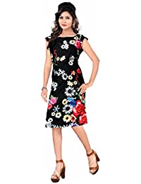 Kuber Designer Collection Kurti ( Black Colour Crepe Fabric With Printed Work Stitched Kurti For All Occation....